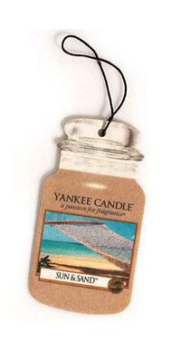 Yankee Candle Car Jar Air Freshener Fragrance-Infused Paperboard, Sun & Sand • 6.16£