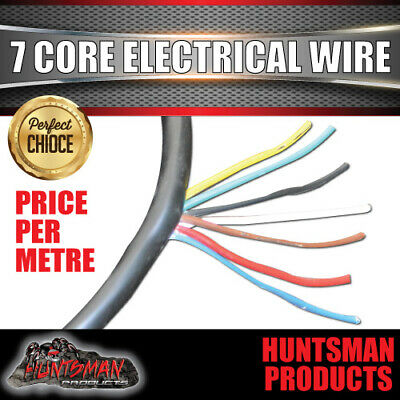 AU2.10 • Buy 7 Core Electrical Wire Per Metre. Od 8.2mm, 38/0.15 Trailer Caravan Part
