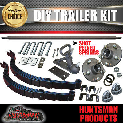 AU229 • Buy 1000Kg DIY Trailer Kit, Solid Axle 60-79 , S.G Cast Hubs, 6 Leaf Slipper Springs