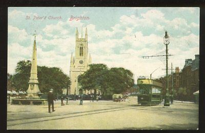 £9 • Buy Sussex BRIGHTON St Peter's Church Tram #30 Early PPC