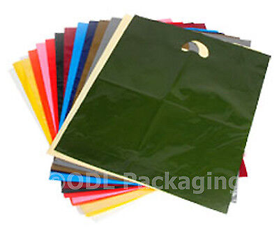 25 Strong Quality Carrier Bags Varigauge 15  X 18  + 3  • 3.75£