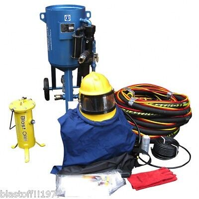 Blast Off Services-sand-shot-grit-bead-media-air-dry-blasting-14'' Pot Package  • 2,701£