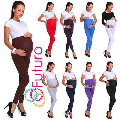 £3.49 • Buy Maternity Cotton Leggings Thick Heavy And Classic Full Ankle Length PREGNANCY