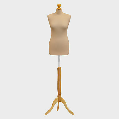 Tailors Dummy Bust Female UK 10/12 Dressmakers Student Sewing Mannequin Display • 27.89£