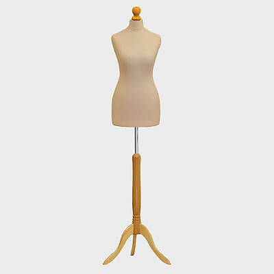 A1 Tailors Dummy Bust Female UK 6/8 Dressmakers Student Sewing Mannequin Display • 27.89£