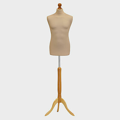 Male Tailors Dummy Tailor Bust Cream Fashion Students Mannequin Window Display • 28.89£