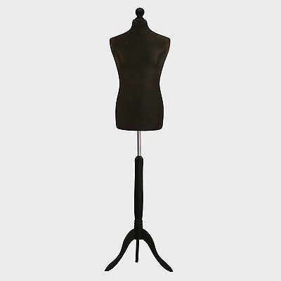 Male Tailors Dummy Tailor Bust Black Fashion Students Mannequin Window Display • 28.89£