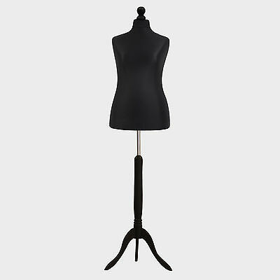 Female Tailor Dummy Bust Black UK 16/18 Sewing Fashion Student Mannequin Display • 28.89£