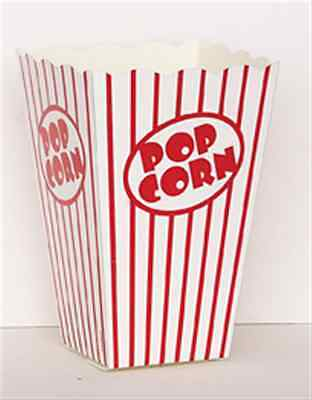 10 Popcorn Boxes Large Red And White Hollywood Party Celebrations Retro • 2.89£
