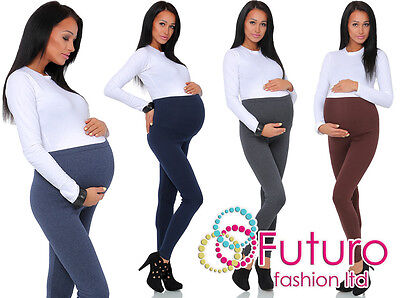 £5.95 • Buy Thick Comfortable Maternity Cotton Leggings Full Ankle Length PREGNANCY