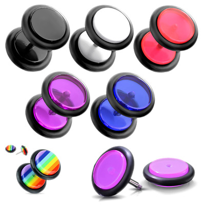 Fake Ear Plug Illusion Cheater Stretcher Expander Piercing 8mm • 1.99£
