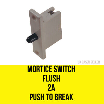 £2.49 • Buy Mortice Switch 2A 250V Push To Break Switch - Cabinet Switch - Flush Mounting