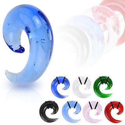 $7.95 • Buy Glass Spiral Tapers Plugs Expanders Gauges Earlets 00g, 0g, 2g, 4g