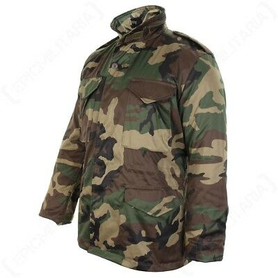 AU103.77 • Buy Woodland Camouflage M65 Field Jacket - US Army Military Parka With Winter Liner
