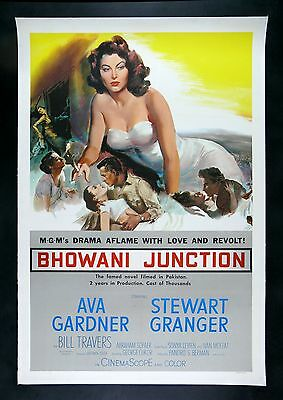 BHOWANI JUNCTION * CineMasterpieces AVA GARDNER PIN UP ORIG MOVIE POSTER 1956 • 575.25£