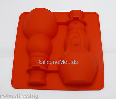 SNOWMAN 3D Hollow Chocolate Candy Cake Silicone Mould Mold Form Christmas Xmas • 5.99£