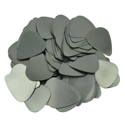 $ CDN27.34 • Buy Lots Of 100 Pcs Stainless Steel 0.3mm Guitar Picks Plectrums Blank