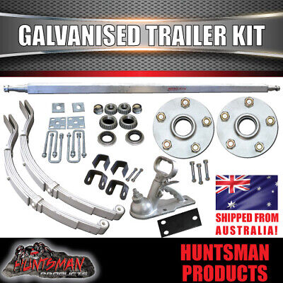 AU286 • Buy DIY 1000KG Boat Jetski Trailer Kit Galvanised Axle Dacromet Slipper Springs
