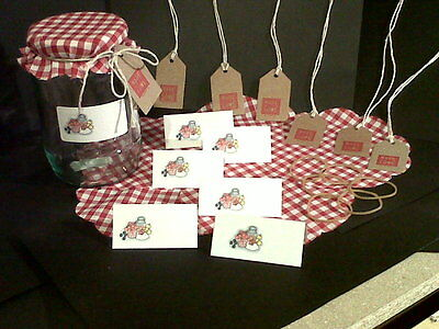 Jam Jar Covers With Matching Labels And Gift Tags  • 5.19£