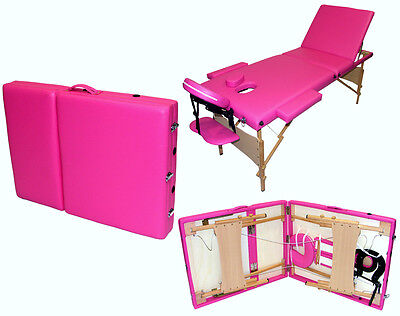Massage Table Bed Portable Couch Section Foldable Folding Beauty Therapy Tattoo • 67.99£