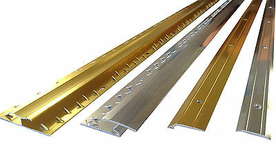ALL Carpet Door Bars Metal Plates Threshold - 3ft In Silver Or Brass • 5.99£