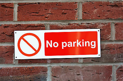 NO PARKING Plastic Or Dibond Sign Or Sticker 300mm X 100mm Private Road Drive • 1.99£
