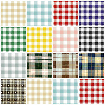 £5.95 • Buy PVC Tablecloth Gingham Check Vinyl Tartan Easy Wipe Clean Oilcloth 140cm Wide