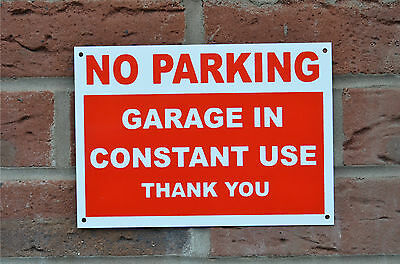 NO PARKING GARAGE IN CONSTANT USE THANK YOU A5 Plastic Sign Or Sticker Driveway • 1.49£