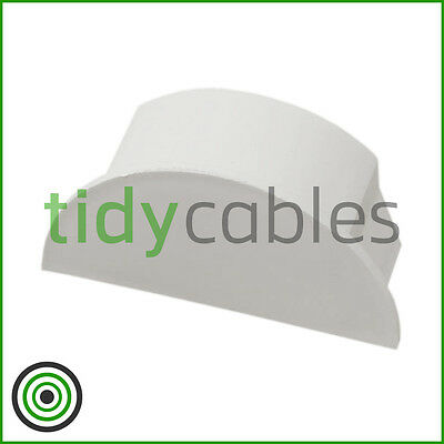 £2.49 • Buy D-Line 50x25 End Cap For TV Cable Cover Wire Hiding Trunking (All Colours)