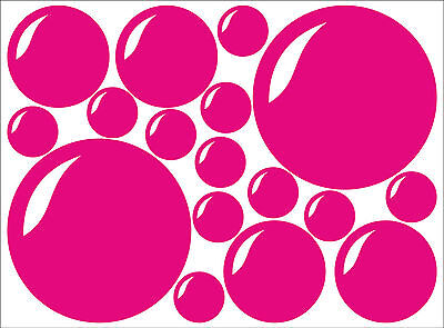 Set Of 17 X BUBBLES Bubble Decal Sticker Vinyl Wall Art Bathroom Kids Child Room • 1.99£
