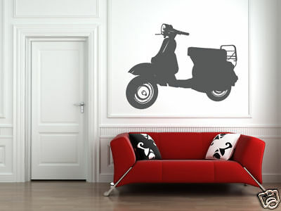 Vespa Scooter, Vespa Wall Decal, Scooter Decal, Hipster Wall Decal, Dorm Decor • 29.69£