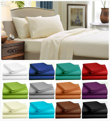 AU29.99 • Buy 1000TC Ultra SOFT Sheet Set (3PC FITTED SHEET SET) Or (4PC SHEET SET) Bed New