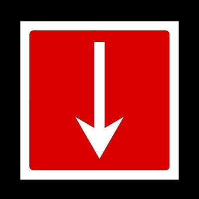 Arrow Right Plastic Sign OR Sticker - Fire, Escape, Exit, Emergency (FE23) • 0.99£