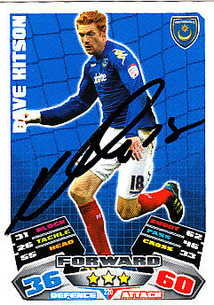 £2.99 • Buy Portsmouth F.C Dave Kitson Hand Signed 11/12 Championship Match Attax.