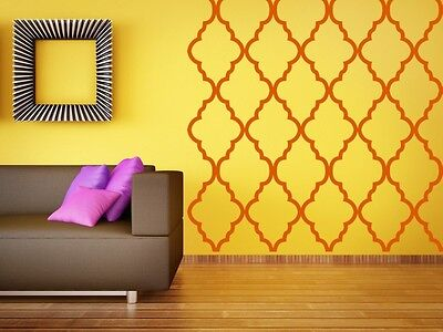 Moroccan Wall Decor, Quatrefoil Wall Pattern, Geometric Decal, Nursery Decal • 45$