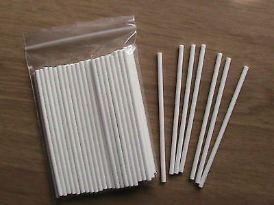 £2.10 • Buy 50 X 4  INCH PAPER LOLLY STICKS LOLLIPOP COOKIE CRAFT MOULDS CAKE POP OVEN SAFE