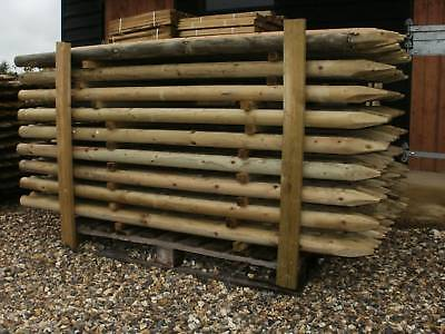 20 1.8M (6ft) X 50MM (2 ) Dia. STRONG TREATED FENCE POSTS OR TREE STAKES Wood • 69.99£