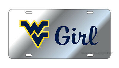 $ CDN30.17 • Buy WVU WEST VIRGINIA Mountaineers Mirrored  WV Girl  License Plate / Car Tag