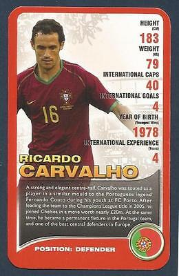Top Trumps-european Football Stars-2008-portugal & Chelsea-ricardo Carvalho • 1.25£