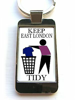 West Ham United Supporters Keep Area Tidy Custom Keyring Key Fob Bottle Opener • 4.99£