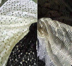 Lace Fabric Poly Cotton & Rayon Blends By 1/2 Meter -Crochet Hippie Style • 5.75£