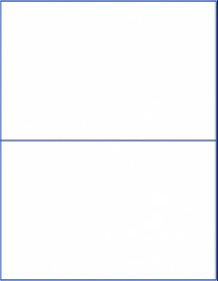 $7.12 • Buy (20 Blank Labels) Mailing Shipping Half Sheet Address Sticker Matte, Made In USA