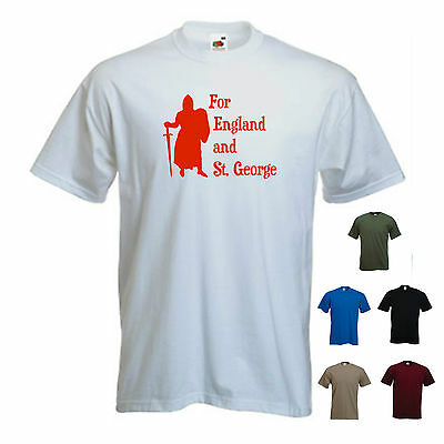 'For England And St. George' Mens St George's/ Georges Day England T-shirt  • 11.69£
