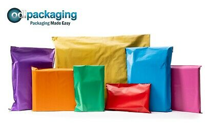 Coloured Polythene Plastic Mailing Postal Packaging Bags Strong Self Seal Strip • 4.65£