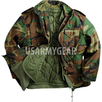 AU82.87 • Buy Made In USA MILITARY FIELD JACKET Woodland Fatigues ARMY COAT M65 W. Liner Hood