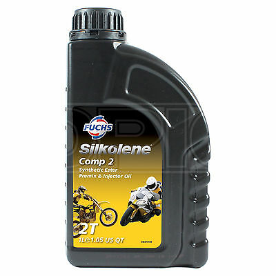 Silkolene Comp 2 2T 2 Stroke Motorcycle Engine Oil 1 Litre 1L • 12.95£