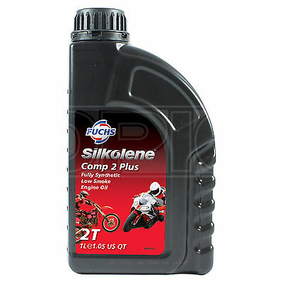 Silkolene Comp 2 Plus Synthetic 2-Stroke 2T Motorcycle Engine Oil 1 Litre 1L • 16.95£