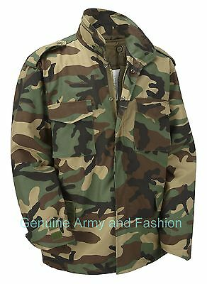 AU72.34 • Buy M65 Jacket Army Military Combat US Field Quilted Liner Vintage Camo DPM Woodland