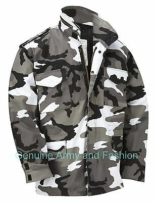 AU77.77 • Buy M65 Jacket Army Military Combat US Field Winter Quilted Liner Vintage Urban Camo