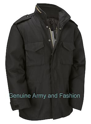AU72.06 • Buy M65 Jacket Army Military Combat US Field Winter Quilted Warm Lined Vintage Black